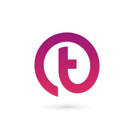 Lettera T icone di elementi del modello di progettazione Archivio Fotografico - 41985605