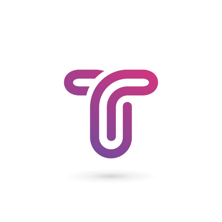 Letter T logo icon design template elements Illusztráció