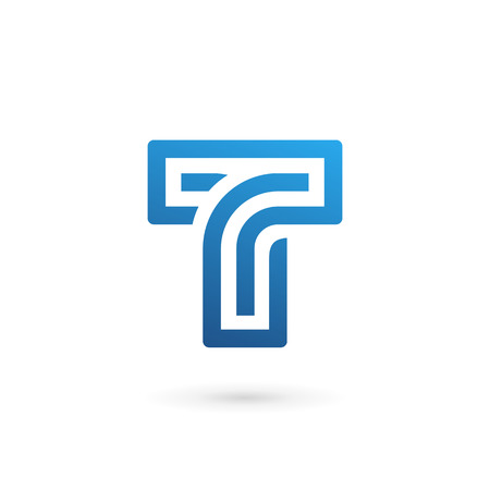 Letter T logo icon design template elements  イラスト・ベクター素材