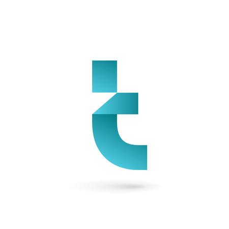 T の文字ロゴ アイコンのデザイン テンプレート要素