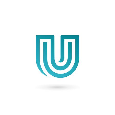 letter u: Letter U icon design template elements