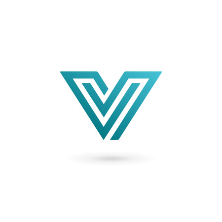 Letter V logo icon design template elements Illusztráció