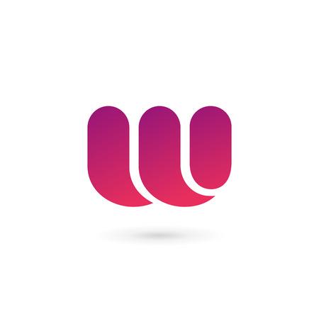letter w: Letter W  icon design template elements