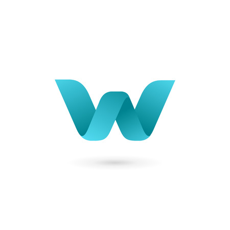 Letter W logo icon design template elements 일러스트