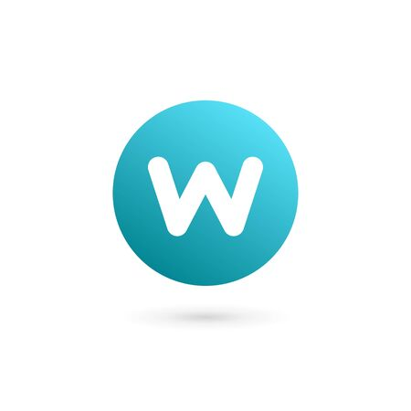 w: Letter W  icon design template elements
