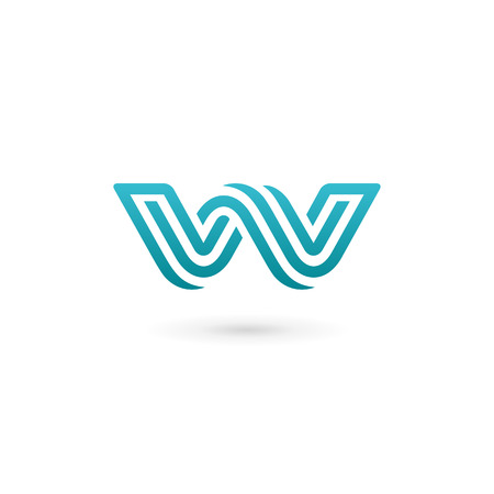 Letter W  icon design template elements