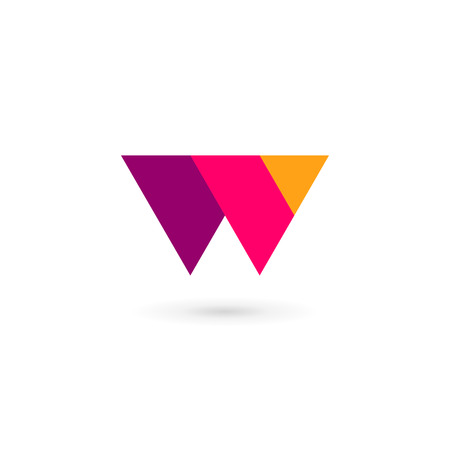 letter w: Letter W  icon design template elements