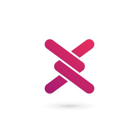 文字 X ロゴ アイコンのデザイン テンプレート要素  イラスト・ベクター素材