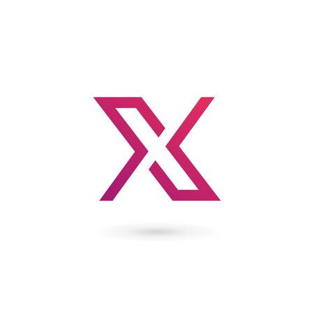 Lettera X Elementi del modello di logo design icon Archivio Fotografico - 43529067