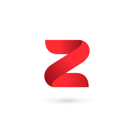 Letter Z number 2 logo icon design template elements Illusztráció