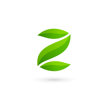 eco icon: Letter Z number 2 eco leaves logo icon design template elements Illustration