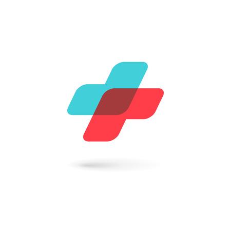 egészségügyi: Kereszt plusz orvosi ikon design sablon elemei