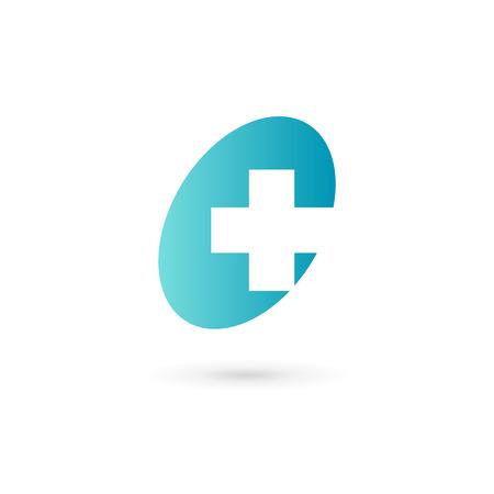 Cross plus medical   icon design template elements Illustration