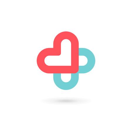 Cross plus medical   icon design template elements 일러스트