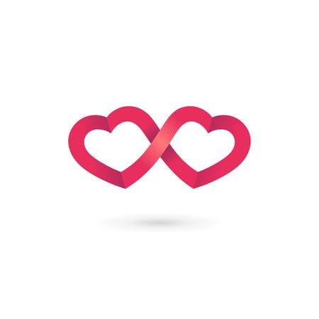 loop: Infinito corazón elementos de plantilla bucle icono del diseño