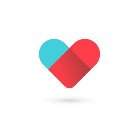 heart symbol: Letter V heart symbol icon design template elements Illustration
