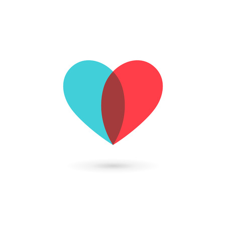 Heart symbol icon design template. May be used in medical, dating, Valentines Day and wedding design.