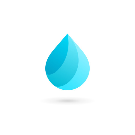 Water drop symbol icon design template icon. May be used in ecological, medical, chemical, food and oil design. Illustration