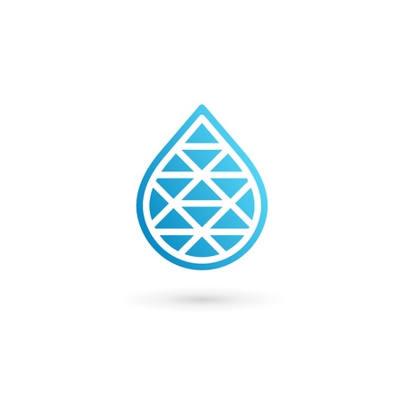 vector element: Water drop symbol icon design template icon. May be used in ecological, medical, chemical, food and oil design. Illustration
