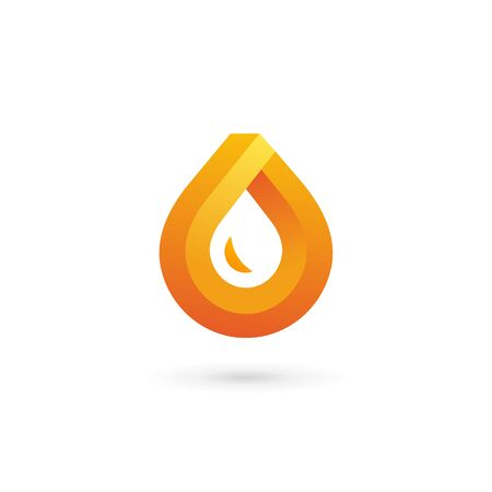 mineral oil: Water drop symbol icon design template icon. May be used in ecological, medical, chemical, food and oil design. Illustration