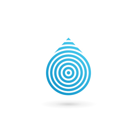 drop water: Water drop symbol icon design template icon. May be used in ecological, medical, chemical, food and oil design. Illustration