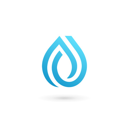 pure element: Water drop symbol design template icon. May be used in ecological, medical, chemical, food and oil design.