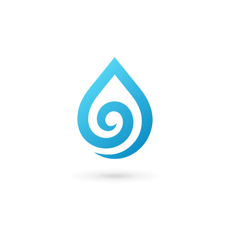 h2o: Water drop symbol icon design template icon. May be used in ecological, medical, chemical, food and oil design. Illustration