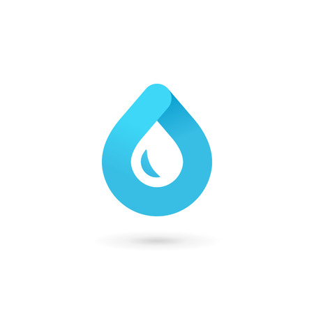 distilled: Water drop symbol icon design template icon. May be used in ecological, medical, chemical, food and oil design. Illustration