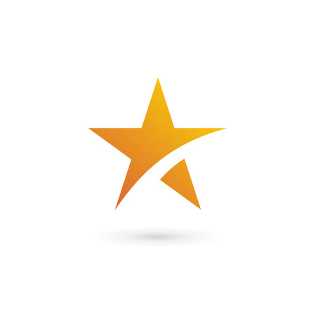 star icon: Abstract star icon design template elements