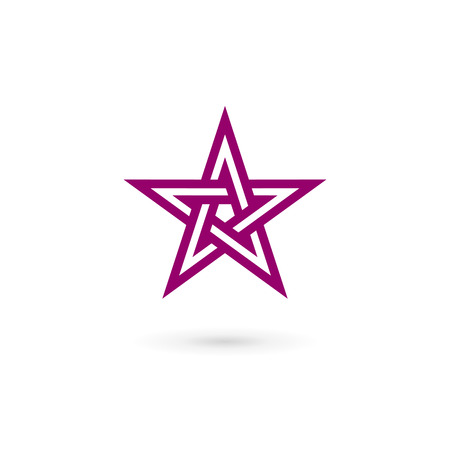 art vector: Abstract star icon design template elements