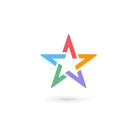 Abstract star icon design template elements