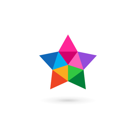 abstract design elements: Abstract mosaic star icon design template elements