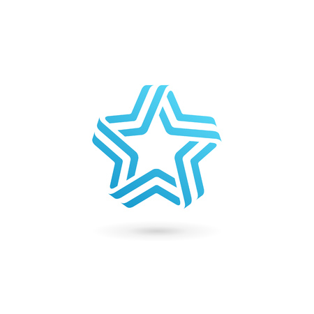 abstract design elements: Abstract star icon design template elements