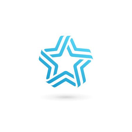 estrella: Resumen estrella elementos de plantilla icono del diseño Vectores