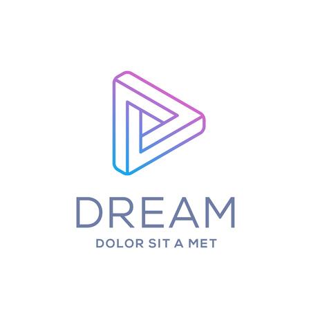 letter d: Letter D arrow  icon design template elements
