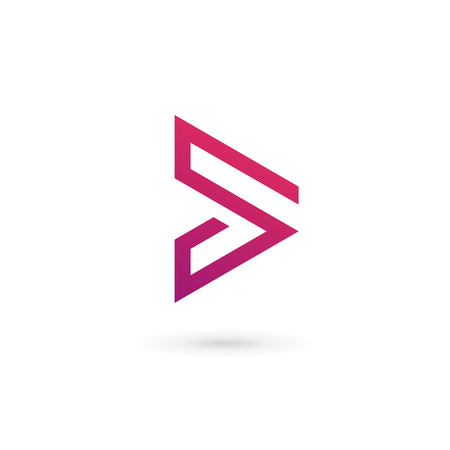 move forward: Abstract business  icon design template with arrow