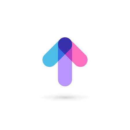 moving forward: Abstract business  icon design template with arrow