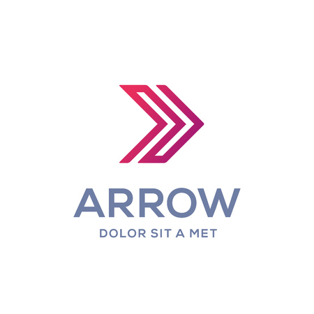arrow icon: Abstract business icon design template with arrow Illustration