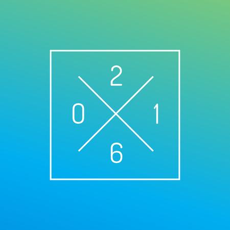 happy new year: Frohes neues Jahr 2016 Grußkarte Design