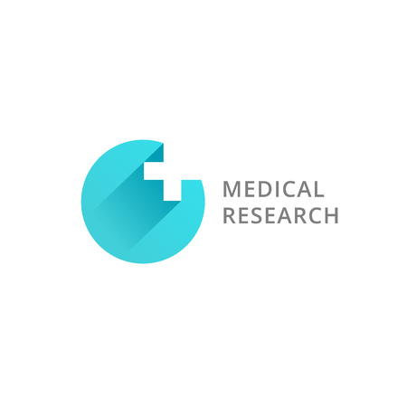 health care research: Cross plus medical logo icon design template elements