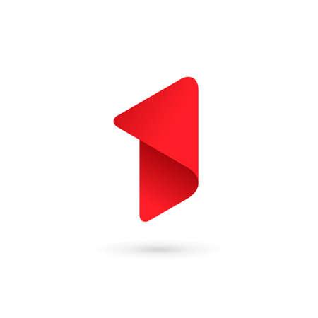 nombres: Numéro un 1 éléments du logo de modèles de conception de l'icône Illustration