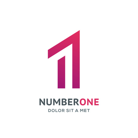 Number one 1 logo icon design template elements Illustration