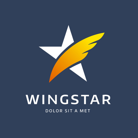 personalausweis: Abstract star wing logo icon design template elements