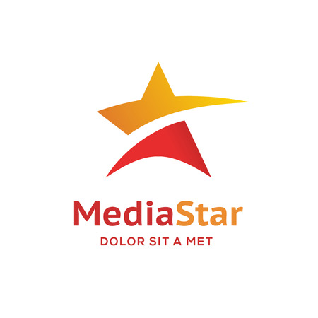 抽象的な星ロゴ アイコンのデザイン テンプレート要素