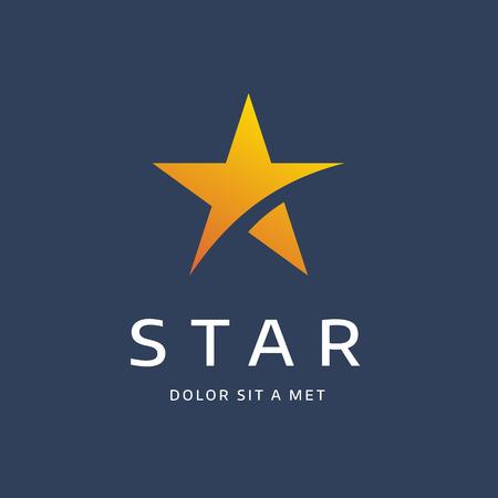 Riassunto logo stella elementi del modello icona del design Archivio Fotografico - 48284051