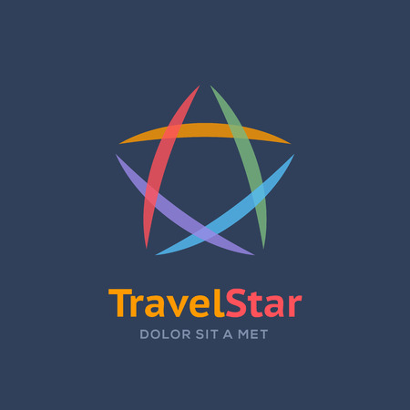 star logo: Abstract star logo icon design template elements