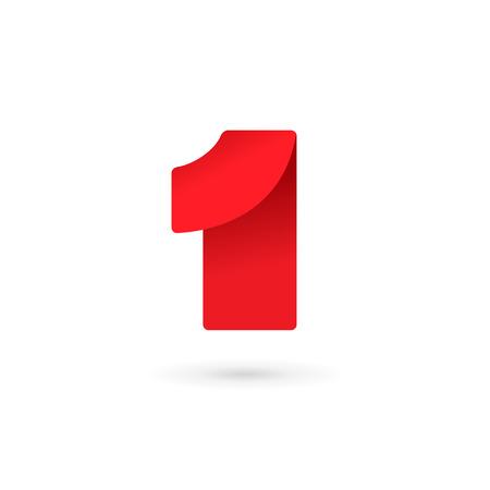 numero uno: Número uno 1 logo elementos de plantilla icono del diseño