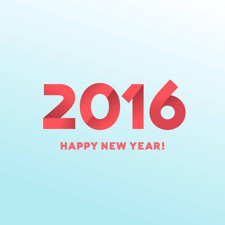 New Year: Szczęśliwego nowego roku 2016 karty z pozdrowieniami projekt
