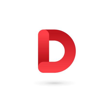 Lettre D éléments de modèle logo icône du design Banque d'images - 48422921