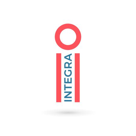 a i: Letter I logo icon design template elements